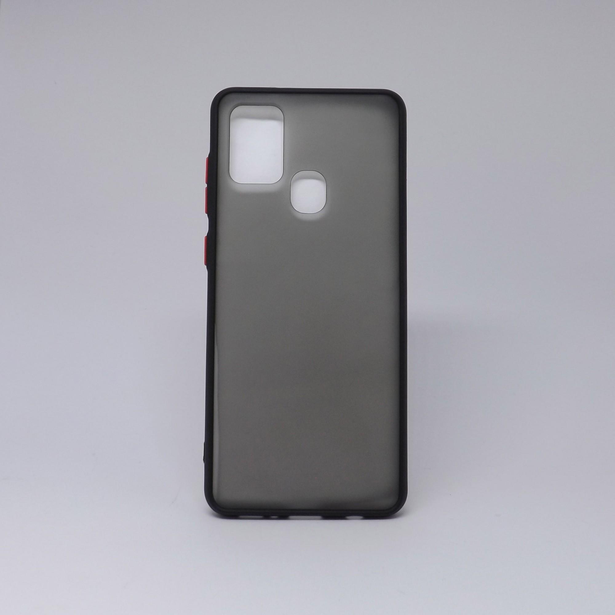 Capa Samsung Galaxy A21S Fumê com Borda Colorida