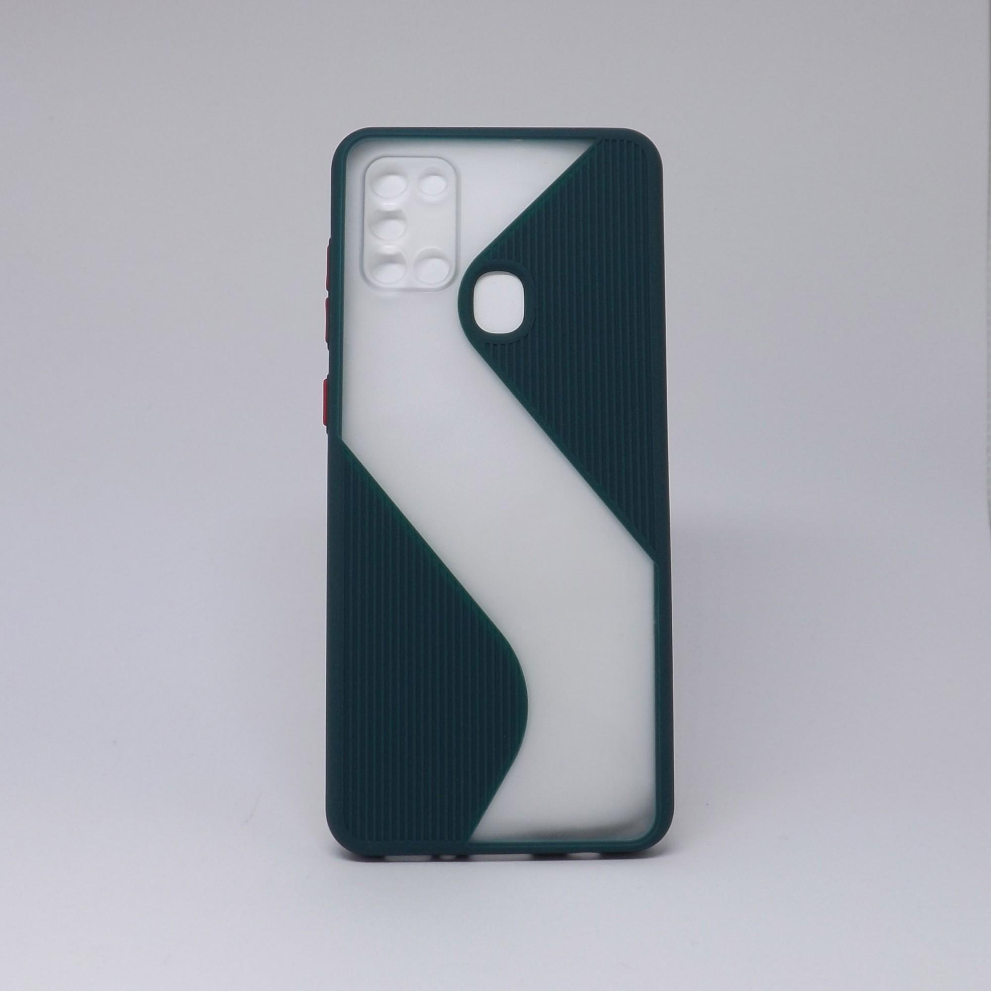 Capa Samsung Galaxy A21S Transparente com Borda Colorida