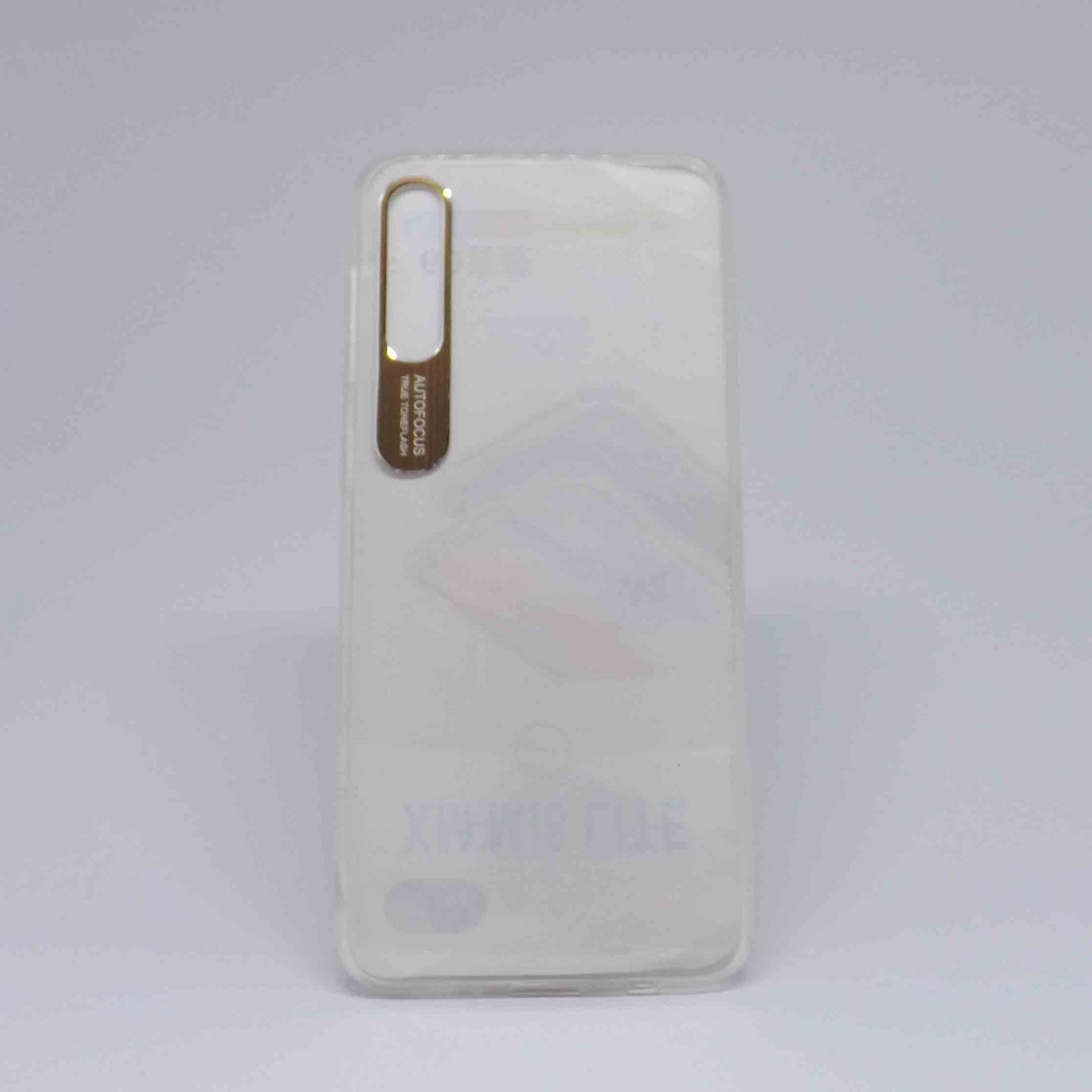 Capa Samsung Galaxy A50/A30s Transparente com Borda Metalizada