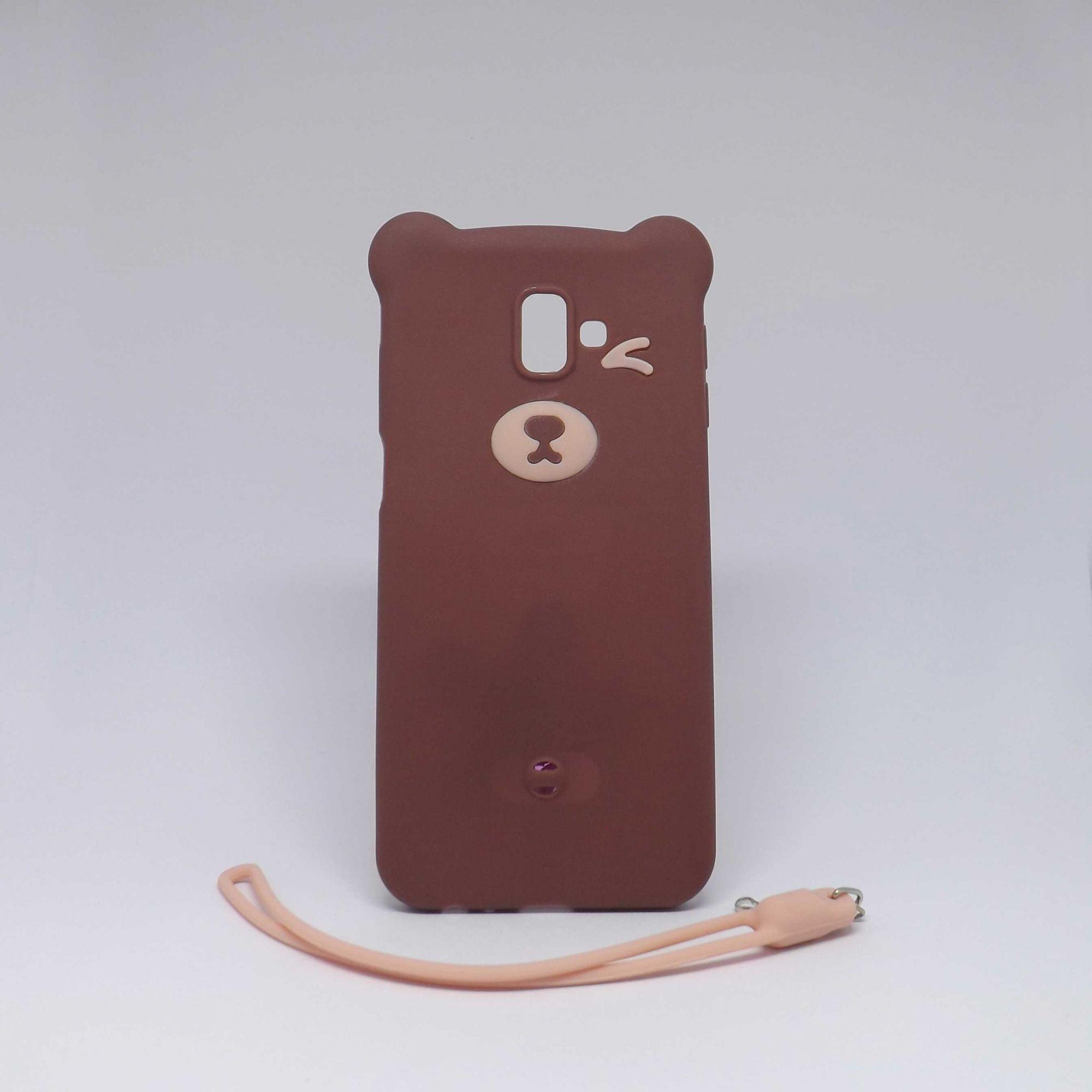 Capa Samsung Galaxy J6 Plus Ursinho com Alça
