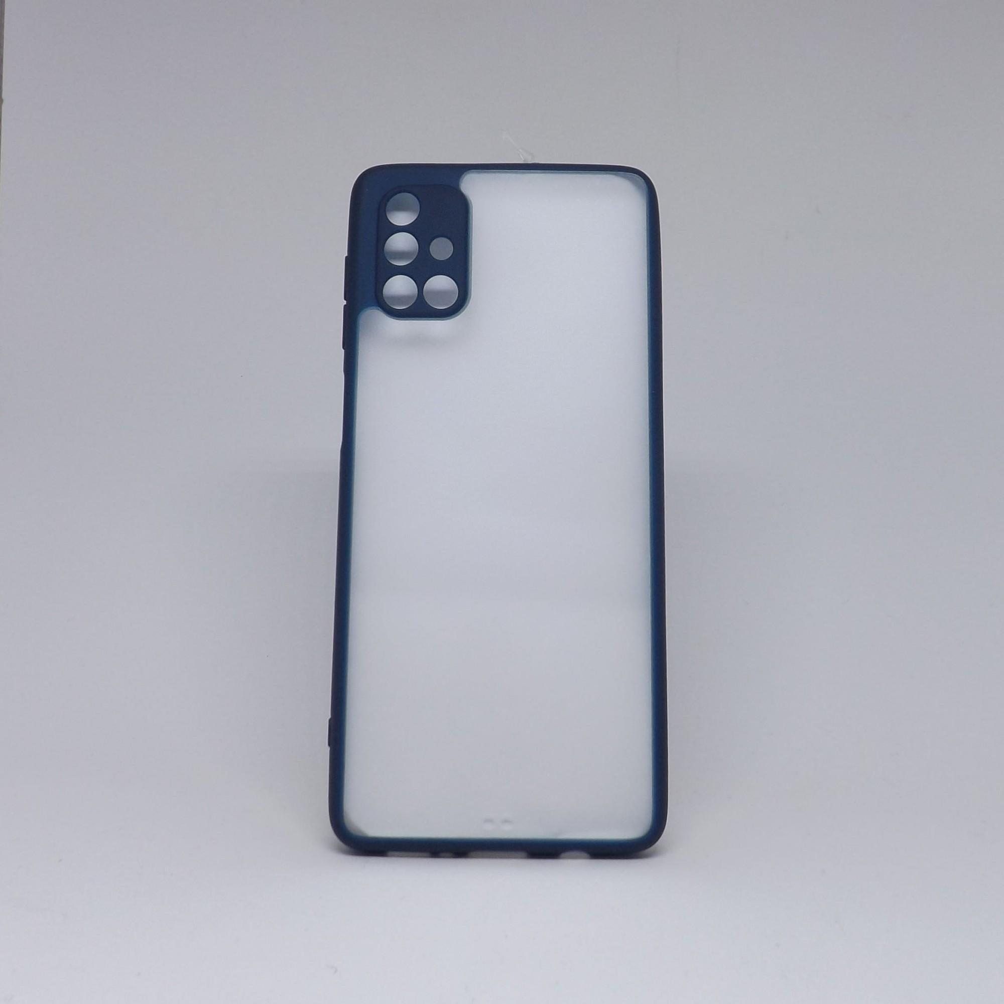 Capa Samsung Galaxy M51 Transparente  com Borda Colorida