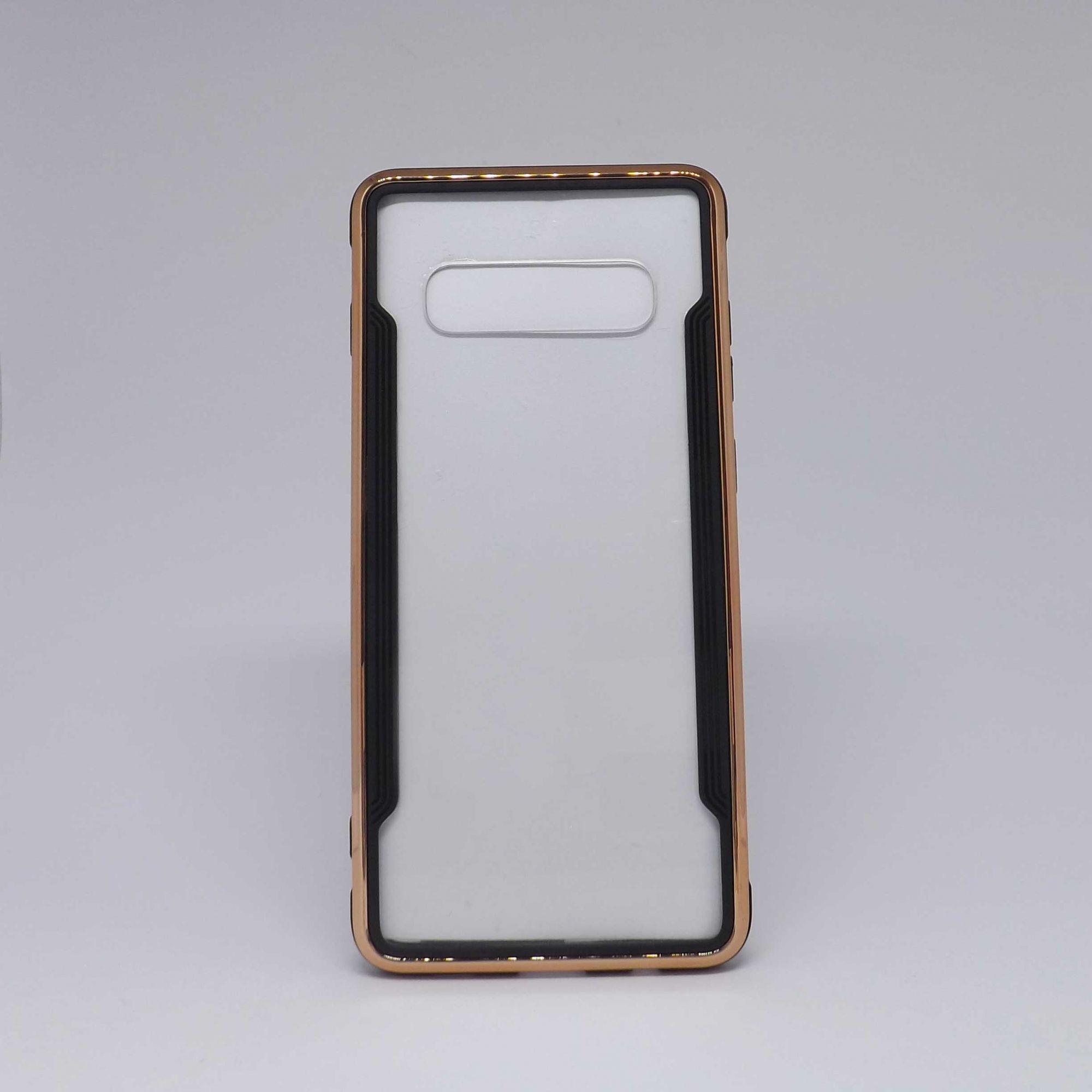 Capa Samsung Galaxy S10 Plus Transparente com Borda Metalizada
