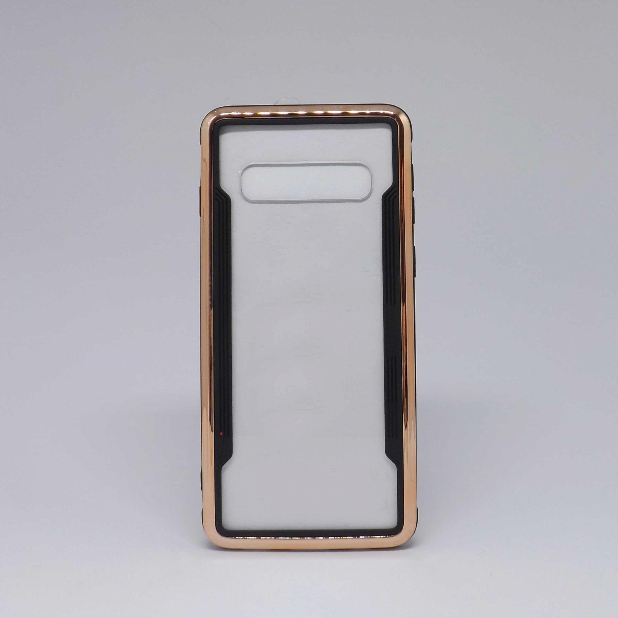 Capa Samsung Galaxy S10 Transparente com Borda Metalizada