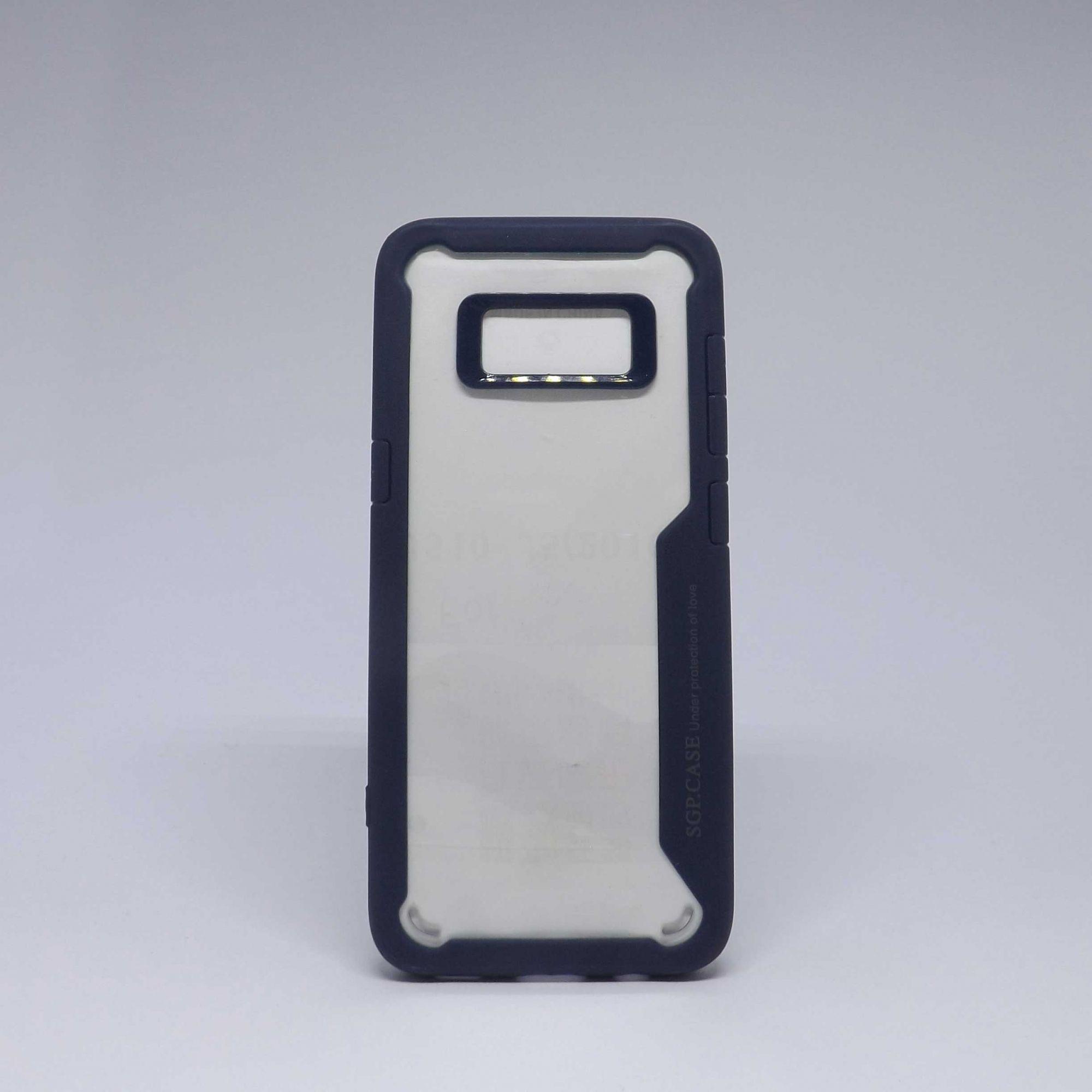 Capa Samsung Galaxy S8 Antiqueda Transparente com Borda Colorida