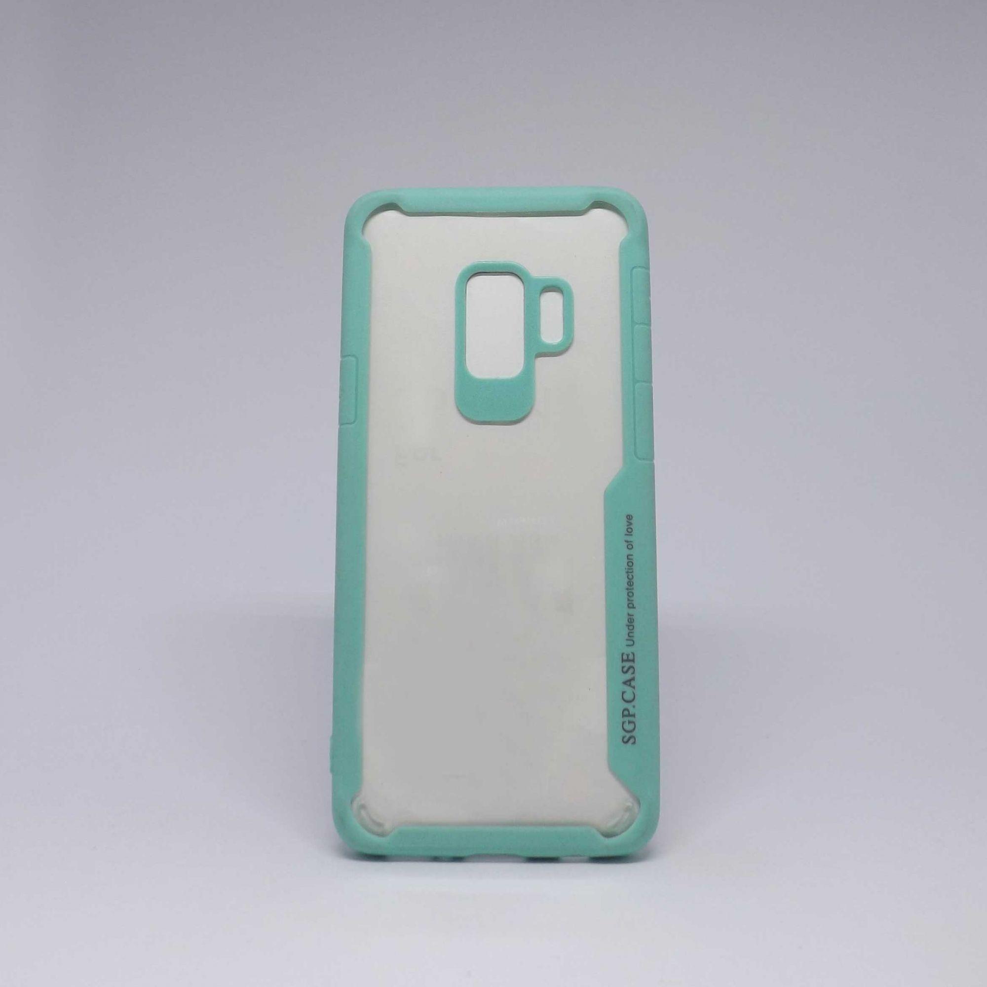 Capa Samsung Galaxy S9 Antiqueda Transparente com Borda Colorida