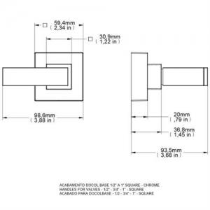 Acabamento Registro Square Base Docol 00436606