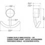 Cabide Cromado Duplo Hotel Chrome Docol 00218306