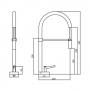 Misturador Monomix Cozinha Com Ducha Lorenround 4267 C60