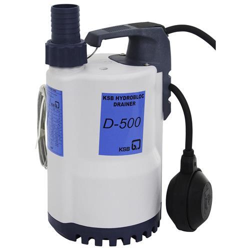 Bomba Submersível Ksb Hydrobloc Drainer D500 0,5 Cv Monofásica 110V