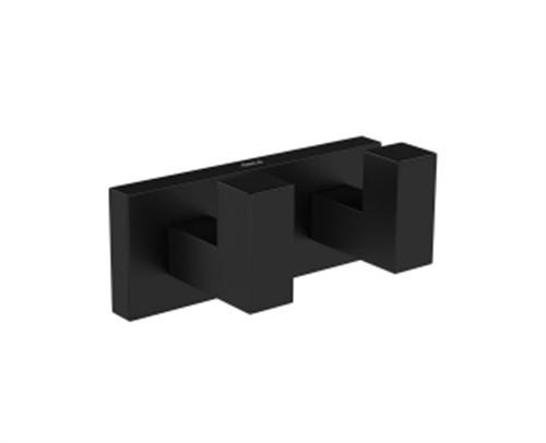 Cabide Duplo Quadratta 2062 Black Matte Deca