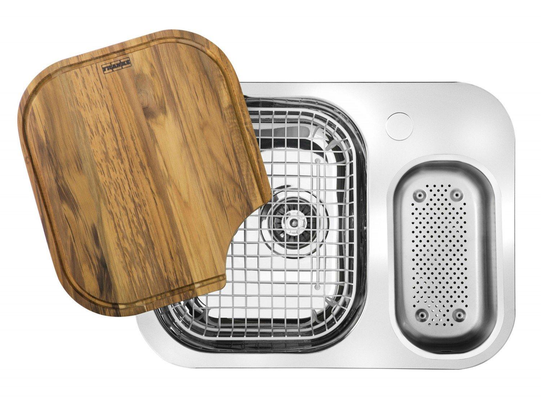 Cuba para Cozinha Inox Quinline Dupla AB 550x400x180mm Franke 15102