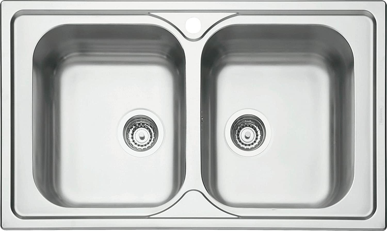 Cuba para Cozinha Sobrepor Tramontina Marea Inox Acetinado 86x50 cm 93903123