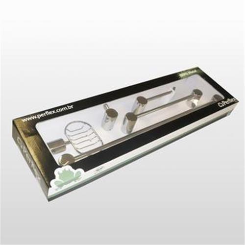 Kit Acessórios De Banheiro Onda C35 Perflex 12124610