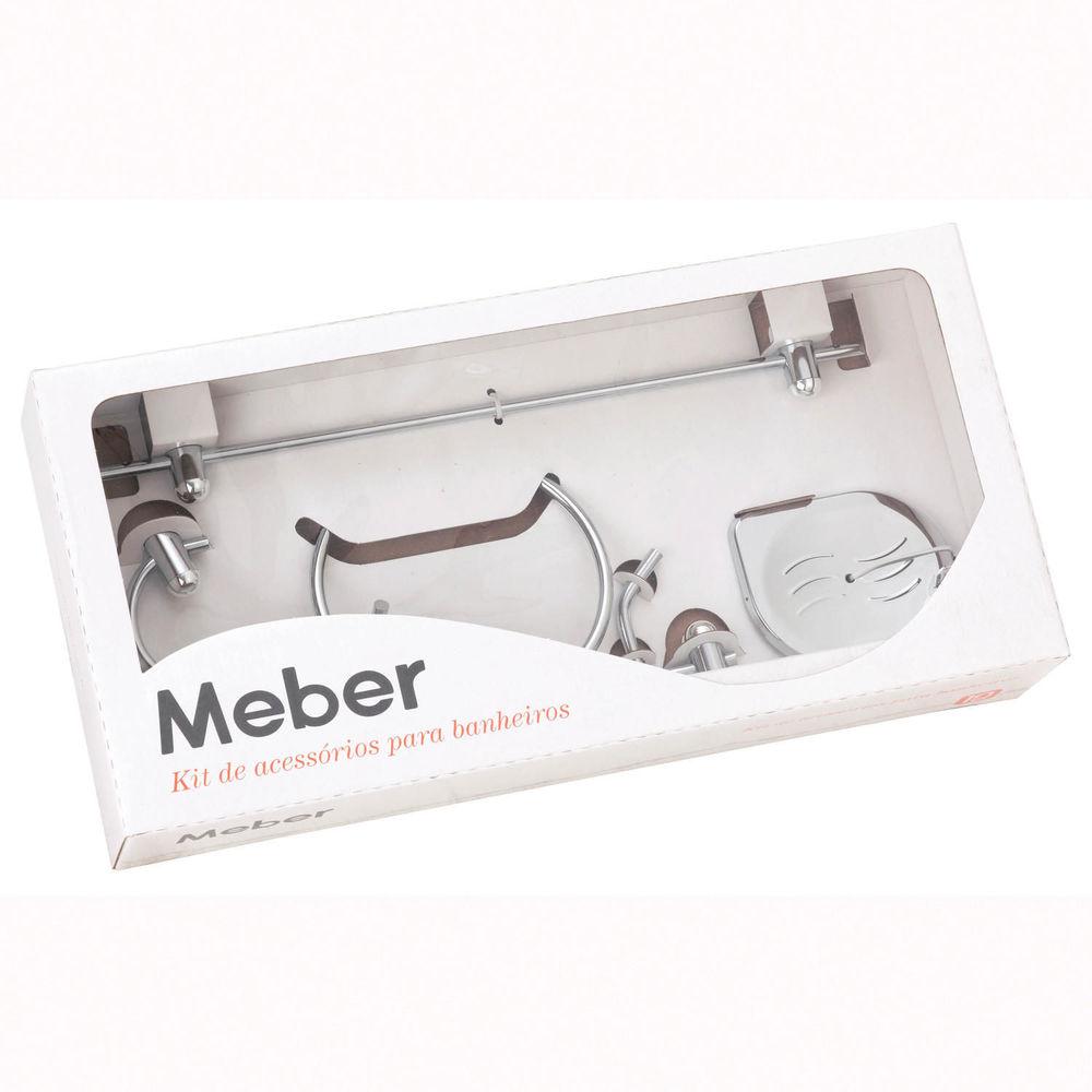 Kit Acessórios Para Banheiro 5 Peças Super Meber 400C