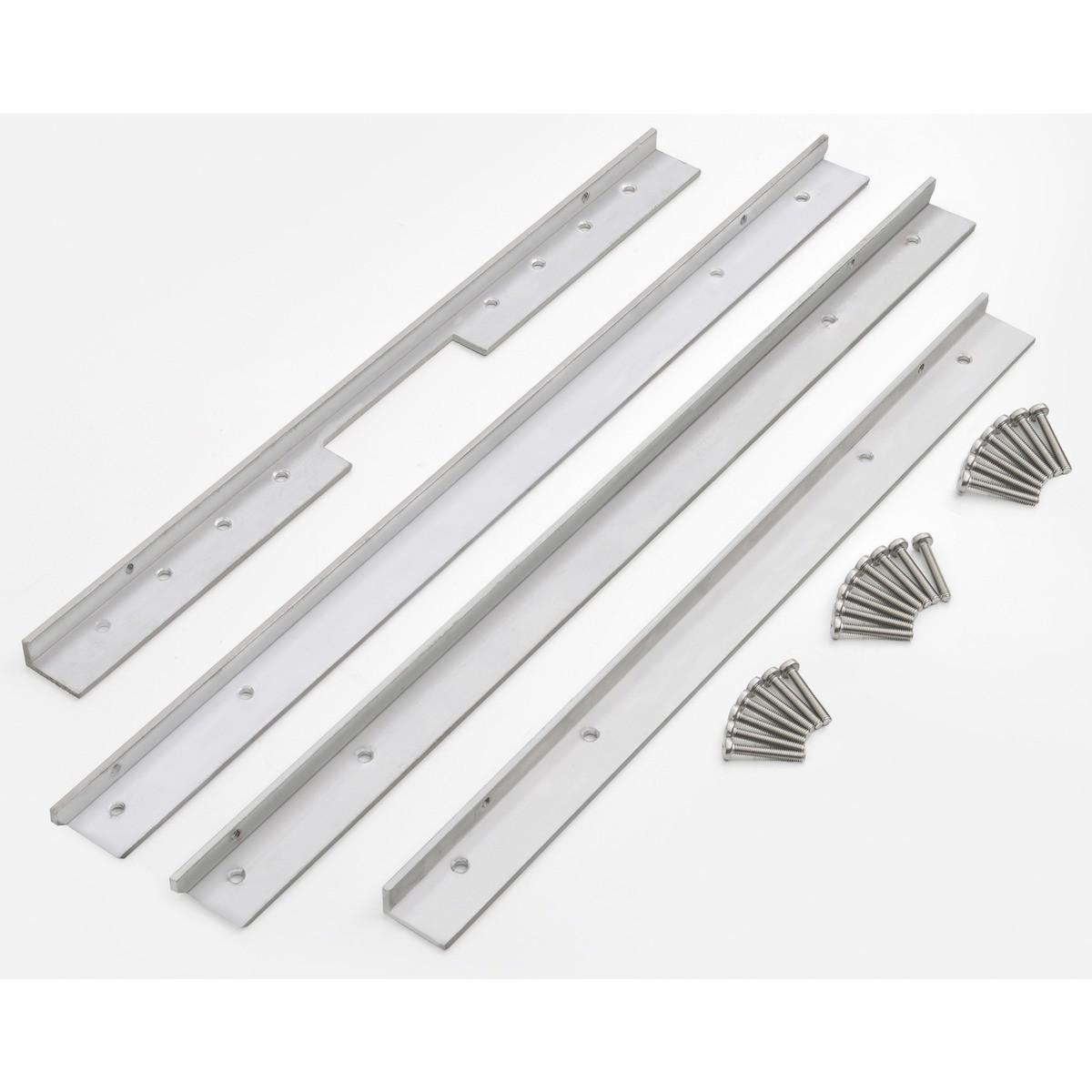 Kit Aluminio Instalação Flush Para Cuba 94005/103 - 94532/105