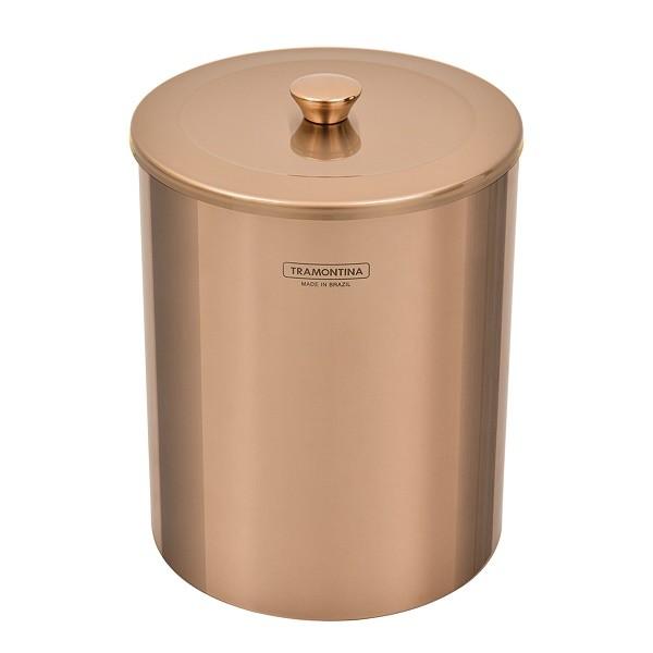 Lixeira Tramontina Útil Aço Inox Polido Gold 5 Litros 94540053