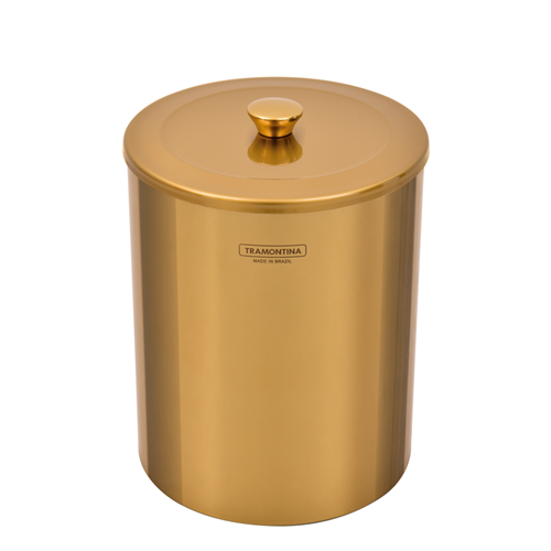 Lixeira Tramontina Útil Revestimento Gold 5 Litros 94540/051
