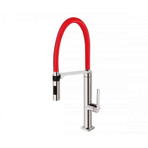 Misturador Monocomando Para Cozinha Chrome/red Docol 00695779