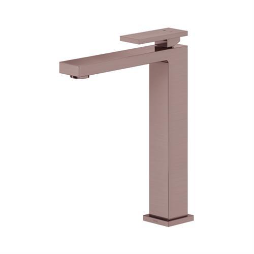 Misturador Monocomando Para Lavatório De Mesa New Edge Cobre Escovado 00925469