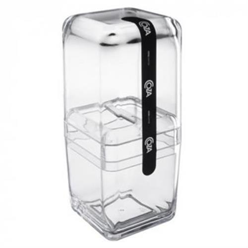 Porta Escova C/tampa Cube Cristal 20877/0009
