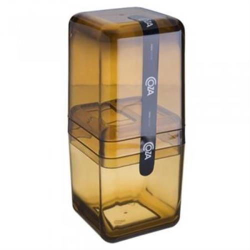 Porta Escova C/tampa Cube Mel 20877/0456