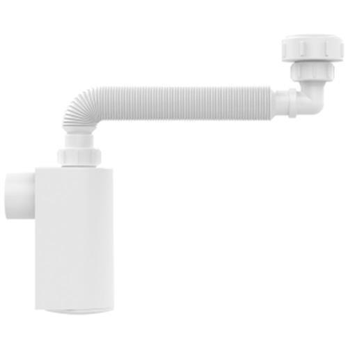 Sifão Universal Branco De Parede Com Copo Dn38 Blukit 031303