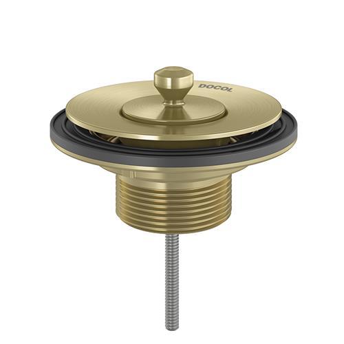 Válvula de Saída Universal Com Tampa De Metal Ouro Escovado Docol 00486372