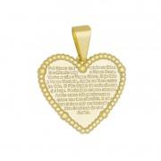 Pingente Coração Pai Nosso Ouro 18k-Giro Semijoias