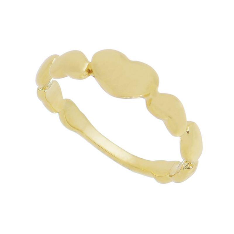 Anel Falange Aro de Corações Banho Ouro 18k - Giro Semijoias