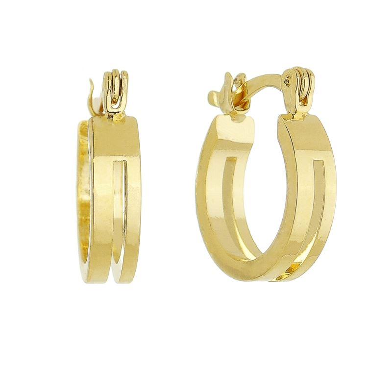 Brinco de Argola Corte (M) Folheado em Ouro 18k - Giro Semijoias