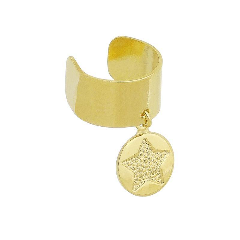 Brinco Piercing Estrela Ouro 18k-Giro Semijoias