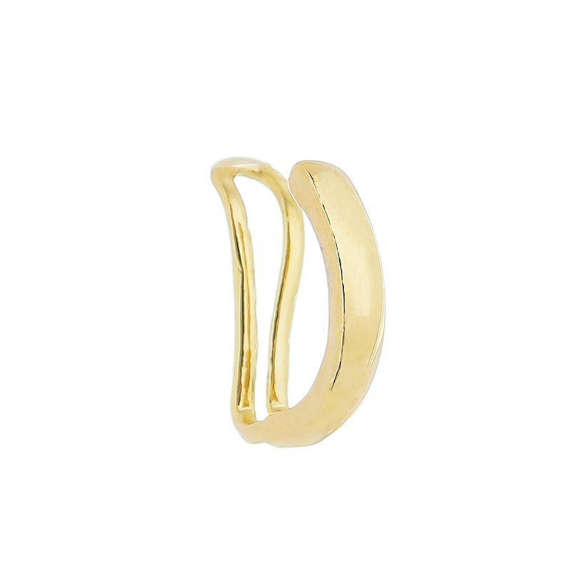 Brinco Piercing Fake de Pressão Meia Argola Folheado em Ouro 18k - Giro Semijoias