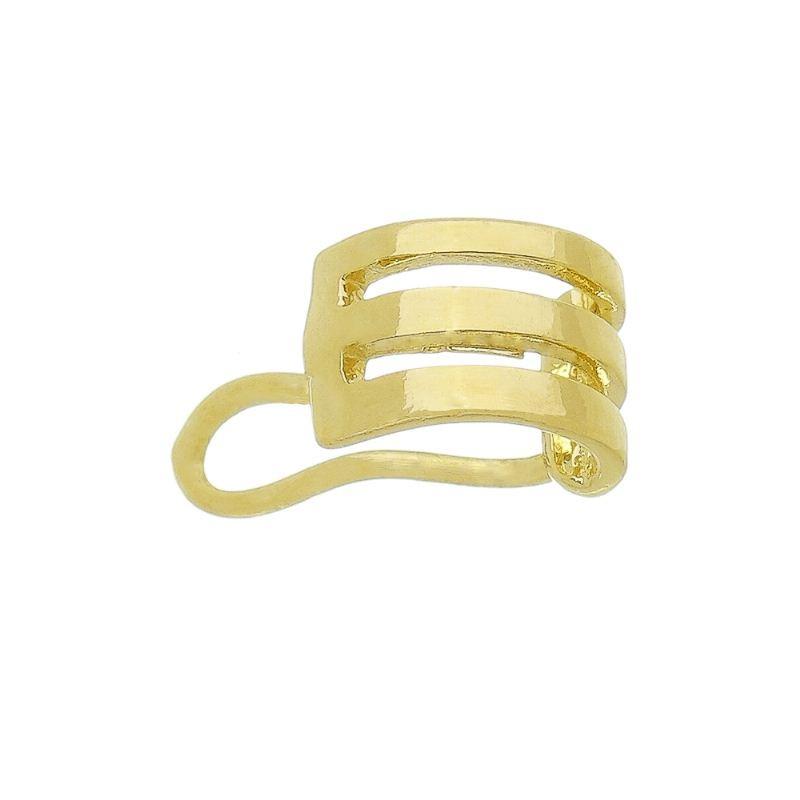 Brinco Piercing vazado Ouro 18k- Giro Semijoias
