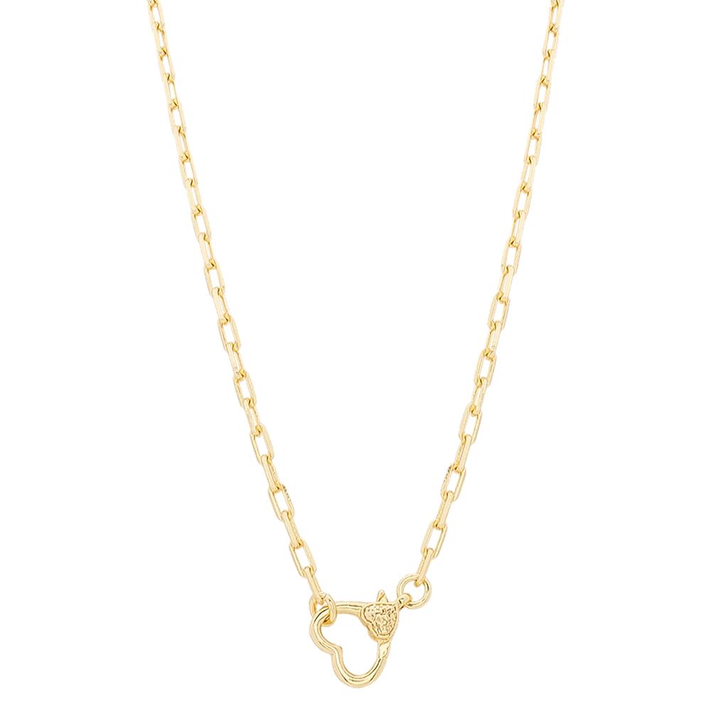 Colar Cartier com Coração Folheado em Ouro 18k - Giro Semijoias