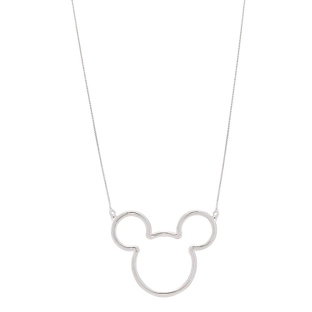 Colar Elos Veneziana Mouse Folheado em Ródio Branco - Giro Semijoias