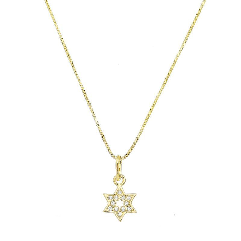Colar Estrela de Davi Folheado em Ouro 18k - Giro Semijoias