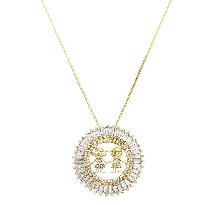 Colar Mandala Casal Ouro 18k- Giro Semijoias