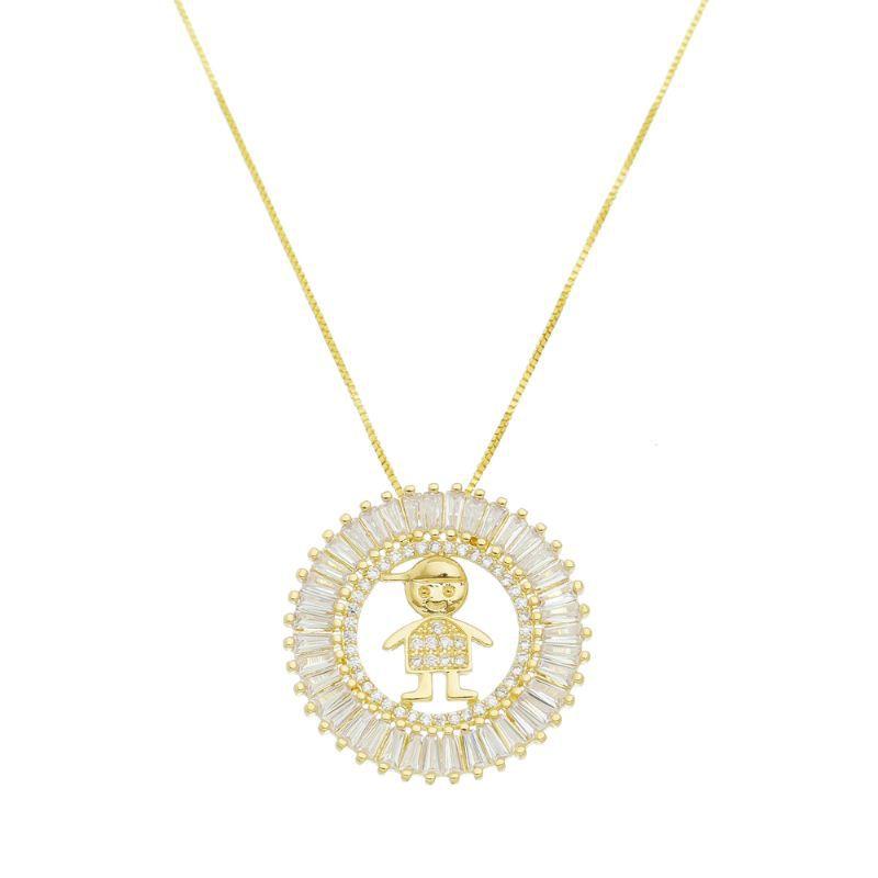 Colar Mandala Menino Ouro 18k- Giro Semijoias