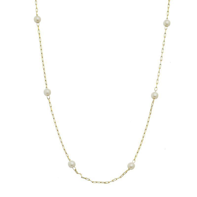 Colar Pérola Pequenas Corrente Cartier Ouro 18k- Giro Semijoias