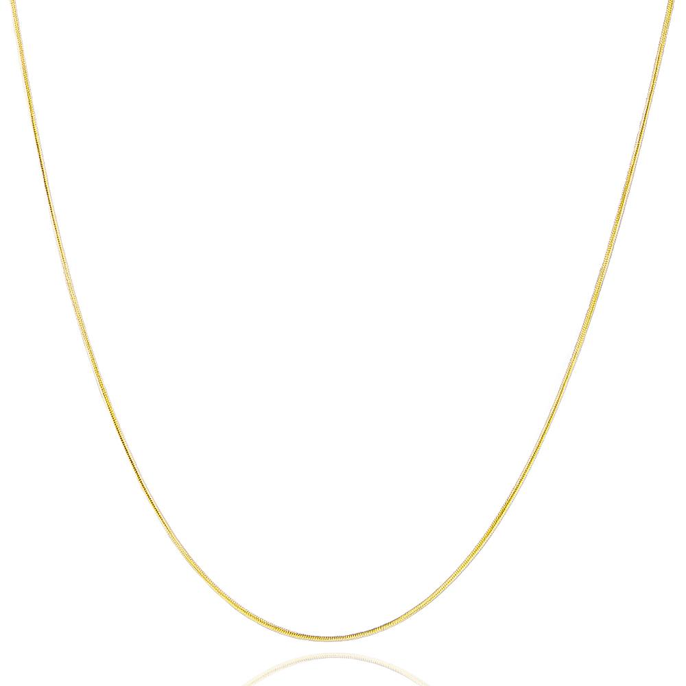 Colar Rabo de Rato 45cm Ouro 18k