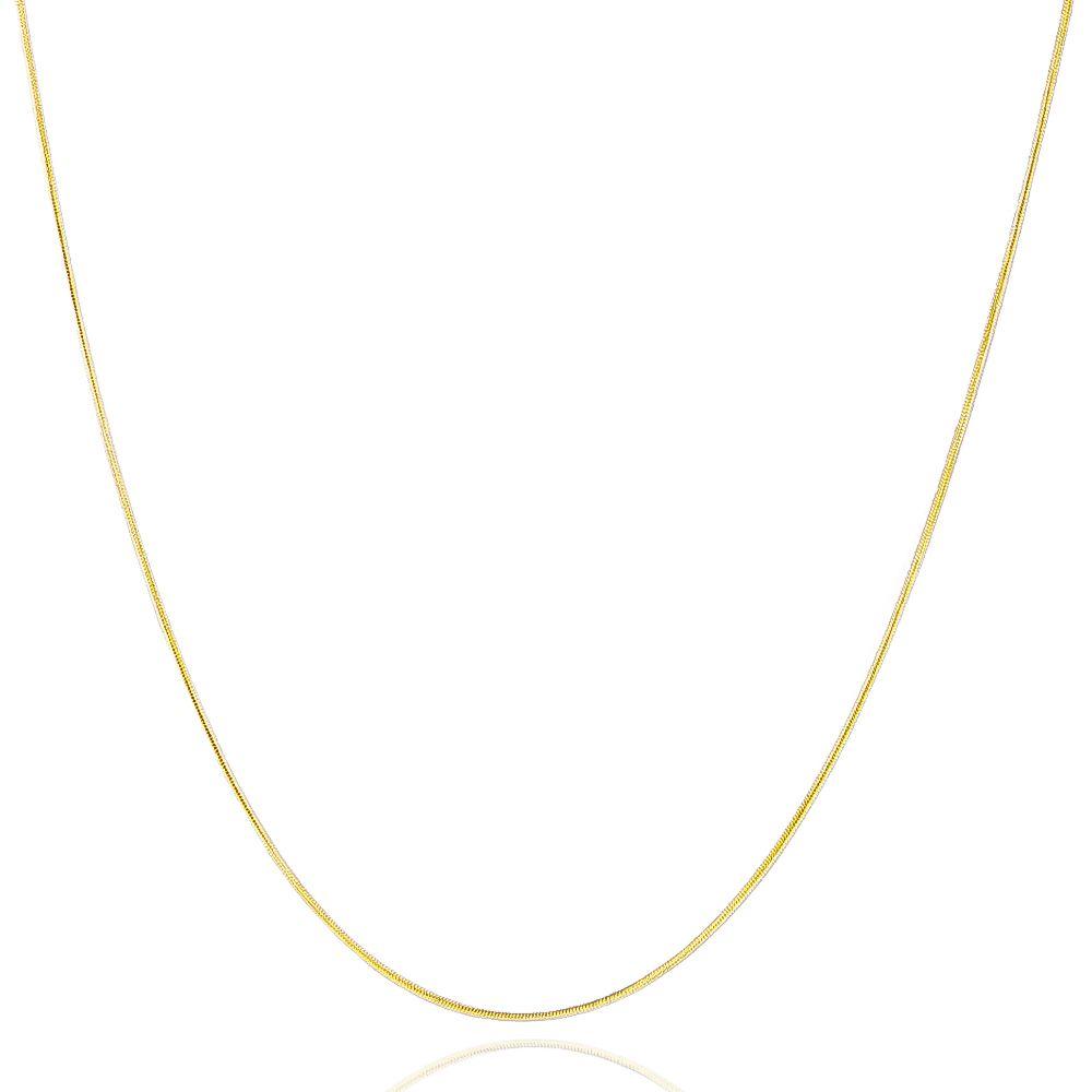 Colar Rabo de Rato 50cm Ouro 18k - Giro Semijoias