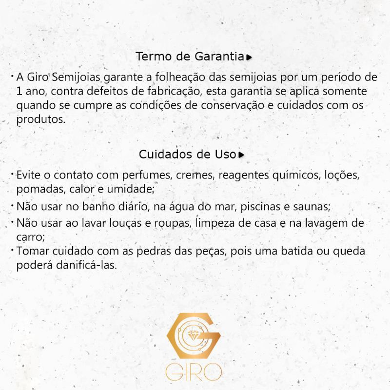 Conjunto Coraçâo Pedra Cristal preto Ouro 18k- Giro Semijoias