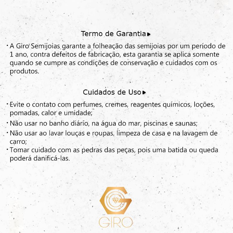 Conjunto Gota Zircônia Preto Ouro 18k- Giro Semijoias