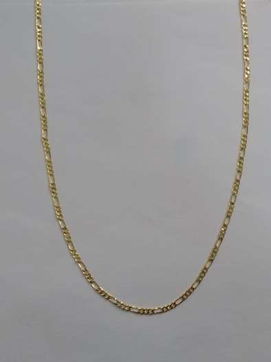 Corrente Avulsa 3x1 Maculina 60cm  - Banho Ouro 18k