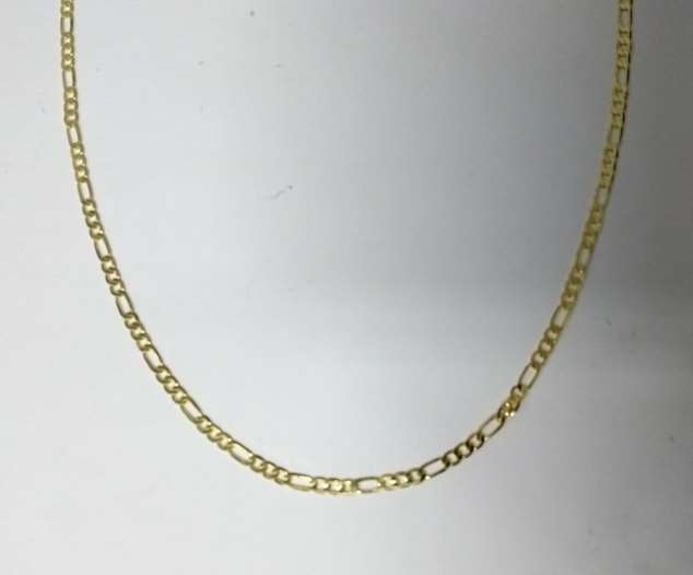Corrente Avulsa 3x1 Maculina 60cm Flamsteed  - Banho Ouro 18k