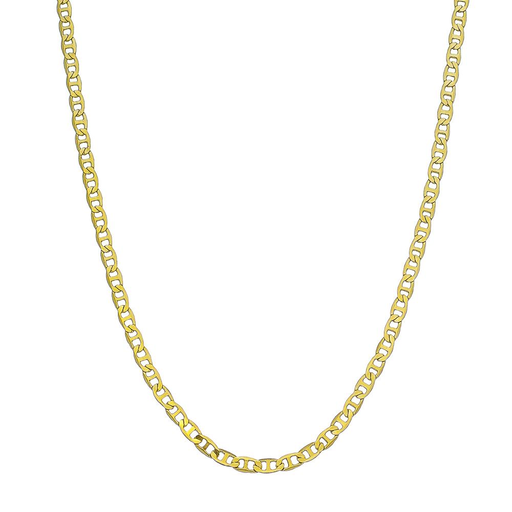 Corrente Avulsa Piastrine Maculina 60cm Ouro 18k