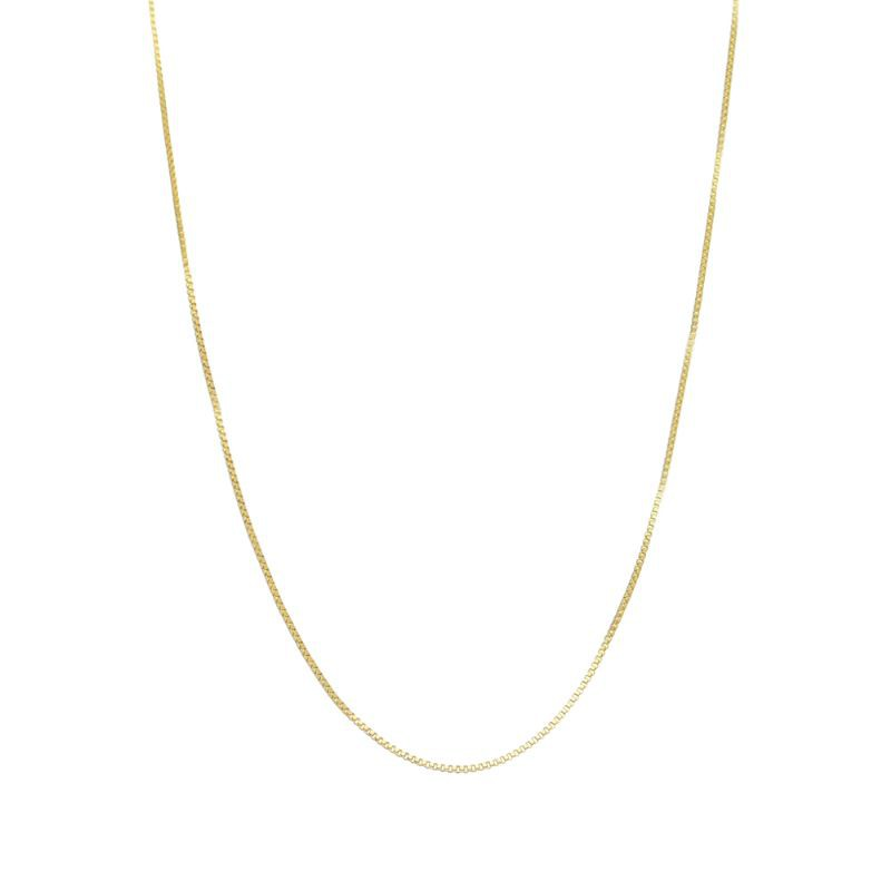 Corrente Avulsa Veneziana 50cm Mu - Banho Ouro 18k