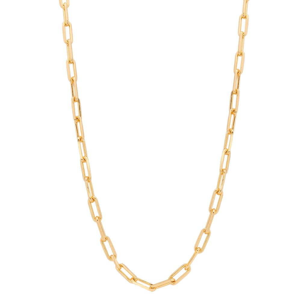 Corrente com Elos Cartier G Folheada em Ouro 18k - Giro Semijoias