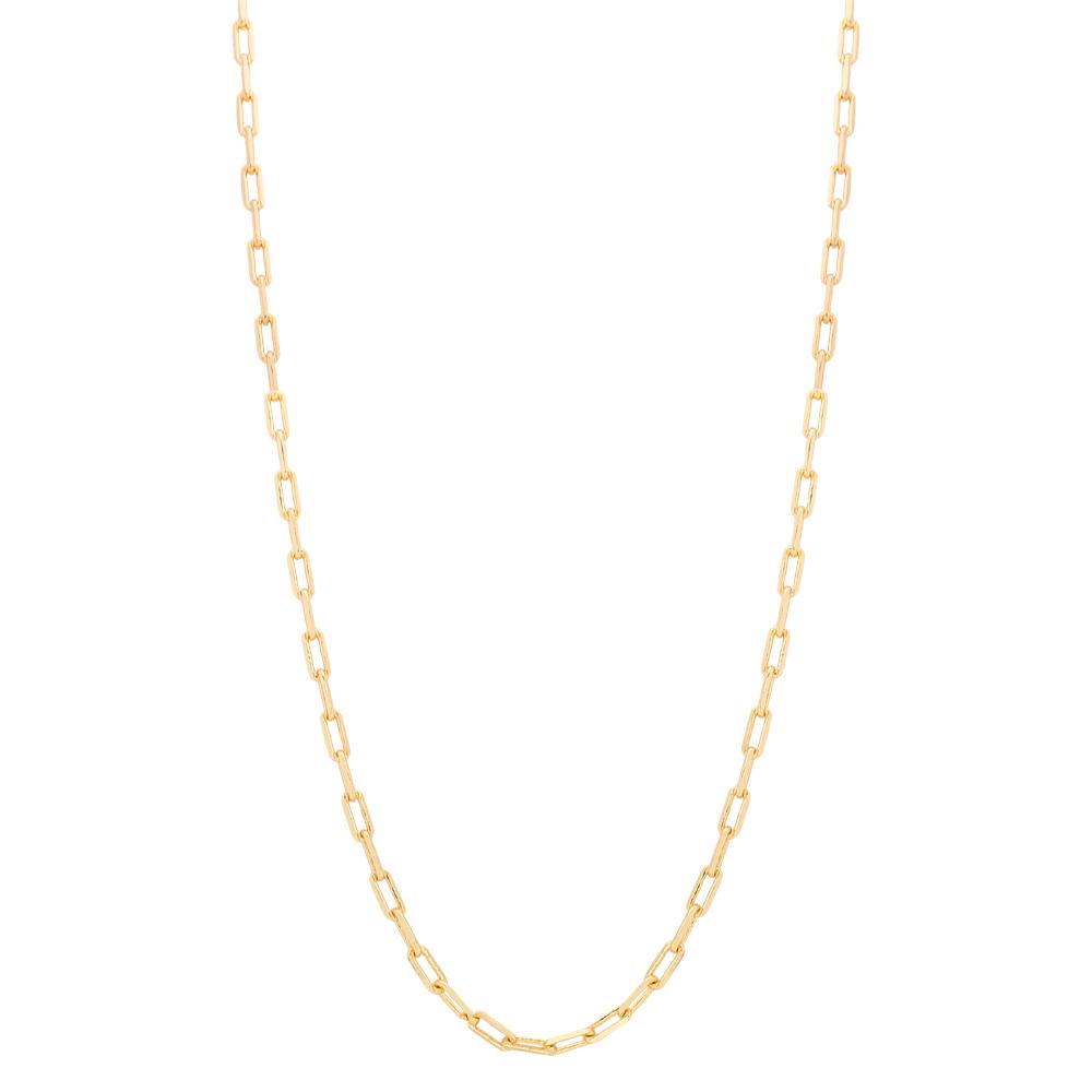 Corrente com Elos Cartier M Folheada em Ouro 18k - Giro Semijoias