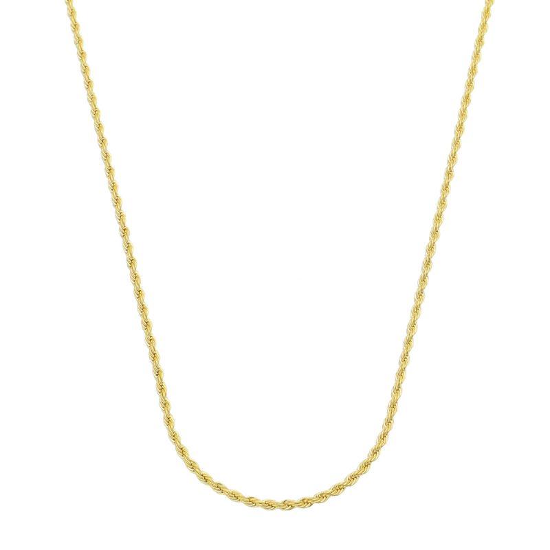 Corrente Cordão Baiano 50 Cm Folheado em Ouro 18k
